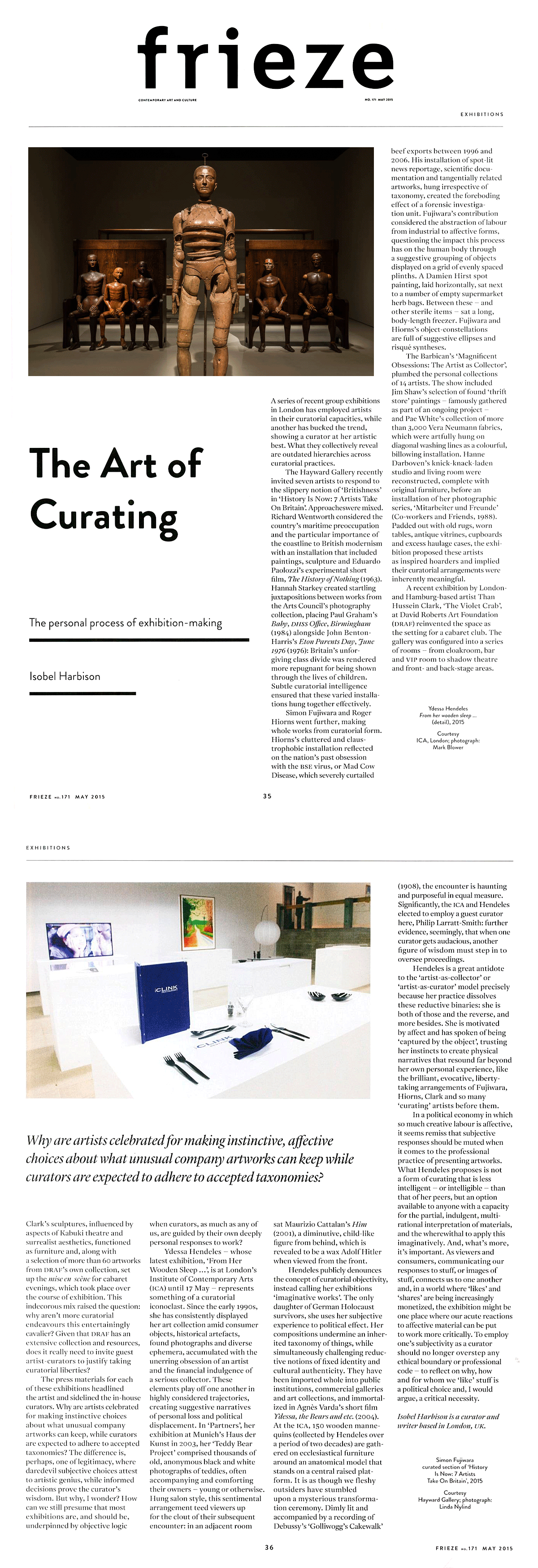Frieze article